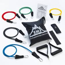 amazon com black mountain products resistance band set with door