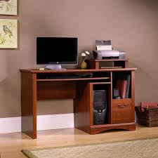 Cherry Computer Desk With Hutch by Amazon Com Sauder Camden County Computer Desk Planked Cherry