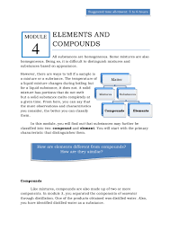 qtr 1 module 4 elements u0026 compounds