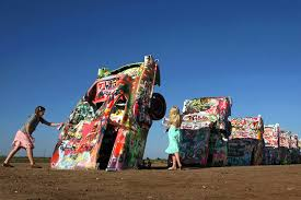 cadillac ranch carolina us roadside attractions jetset