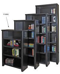 black wood veneer bookcases 48