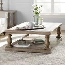 White Distressed Wood Coffee Table Farmhouse U0026 Rustic Coffee Tables Birch Lane