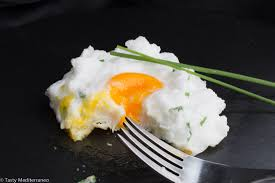 egg clouds egg cloud with chives u2013 tasty mediterraneo yummy 2 pinterest