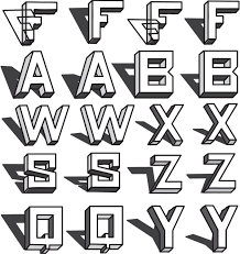 easy 3d shadow graffiti font how to draw bubble letters all