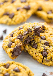 pumpkin oatmeal chocolate chip cookies baker by nature