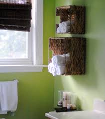 bathroom clever ways to organize with towel shelf home shelving