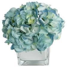 teal flowers artificial flower arrangements you ll wayfair