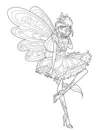 Winx Club Coloring Pages Deviantart  Coloring Pages