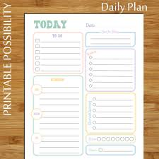 printable daily planner pastel daily to do list planner