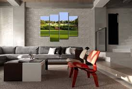 Art Decoration For Home Amazon Com Green 4 Panel Wall Art Painting Jumeirah Golf Estates