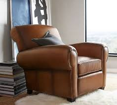Reclining Leather Armchairs Manhattan Leather Armchair Pottery Barn