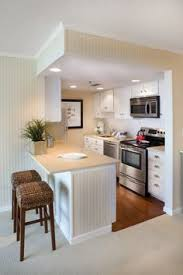 Small Basement Kitchen Ideas Like The Wood Bar Top And Colour Of Cabinets And Also Floor Is