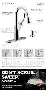 Kitchen Faucet Loose by Kohler Mazz Single Handle Pull Down Sprayer Kitchen Faucet In