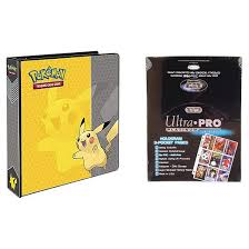 pocket photo album ultra pro pokémon pikachu 2 3 ring binder card album with 100