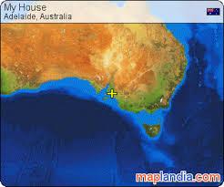 australia satellite map my house adelaide satellite map