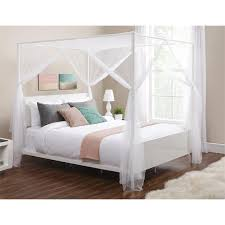 Poster Bed Canopy Palace 4 Post Bed Sheer Panel Canopy Walmart