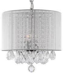 lexa crystal chandelier with shade contemporary chandeliers