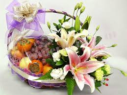 fruit and flower basket fruit flower baskets delivery new york florist flower delivery by