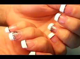 how to paint white nails tips youtube