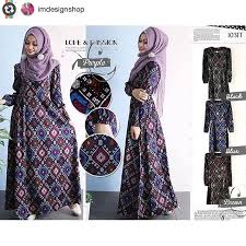 gambar model baju batik modern ini model baju gamis batik terbaru fashion muslim fashion muslim