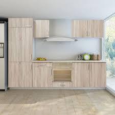 set de cuisine vidaxl set de 7 meubles cuisine pour réfrégirateur non fourni