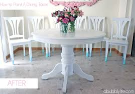 Round Dining Room Table And Chairs Chair Pleasant A Bubbly Lifehow To Paint Dining Room Table Chairs