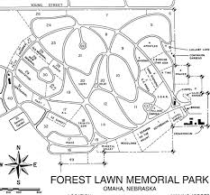 Omaha Nebraska Map Forest Lawn Memorial Park Omaha Nebraska Burial Records