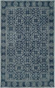 hand knotted rustic blue area rug orange county rugs