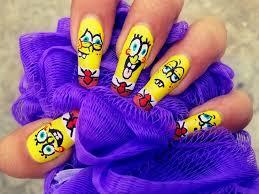spongebob squarepants nail art nail art gallery
