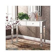 Glass Entry Table Mirrored Entry Table Modern For Entrance Foyer