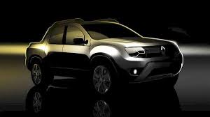 renault pickup truck renault duster pickup truck is teased ahead of debut preview