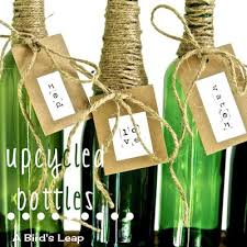 Upcycled Wine Bottles - 18 creative and interesting ways how to upcycle and repurpose wine