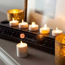 luminara moving tea lights led candles with timer and remote