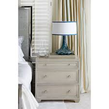 Nightstand Size Gretta Hollywood Regency Polished Grey 3 Drawer Nightstand Kathy