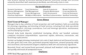 hotel revenue manager resume revenue manager cover letter