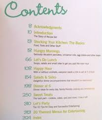 cookbook table of contents cookbook table of contents cookbook pinterest