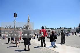 pilgrimage to fatima portugal fatima our of fatima basilica pilgrimage stock