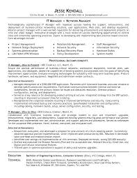 Resume Template Project Manager Download It Manager Resume Sample Haadyaooverbayresort Com