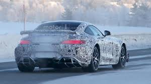 nissan gtr in snow mercedes amg gt r spied in the snow with central exhaust tip