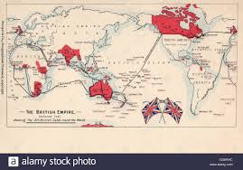International Date Line Map Map Of The British Empire Coloured Red Showing The All British