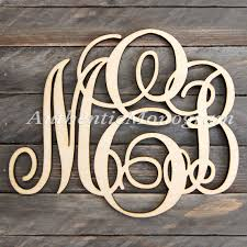 christmas home decor wooden monogram wall letters unpainted