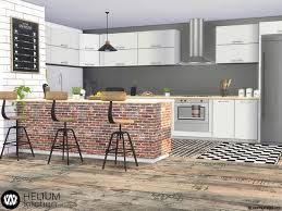 how to make a corner kitchen cabinet sims 4 helium kitchen with brick island and industrial style