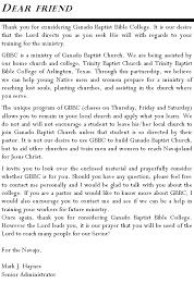 Bible College Acceptance Letter navajoland baptist missions for prospective students