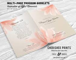 Memorial Booklet Lovely Butterfly Multi Page Funeral Booklet Program