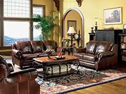 Leather Sofa And Chair Set 3pc Princeton Tri Tone Burgundy Leather Sofa Loveseat