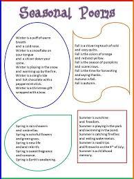 best 25 seasons poem ideas on pinterest preschool seasons poem