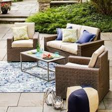 Tall Patio Set by Palm Harbor Outdoor Wicker Bar Set Bar Is 40 X 24 X 42