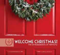 christmas cd cd welcome christmas the ambassadors of harmony
