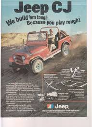 jeep wrangler ads 1978 jeep cj truck magazine advertisement this is an original ad