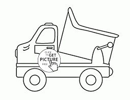 toy dump truck coloring page for kids transportation coloring